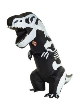 Inflatable Skeleton T-Rex Adult Costume