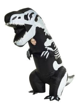 Child Inflatable Skeleton T-Rex Costume