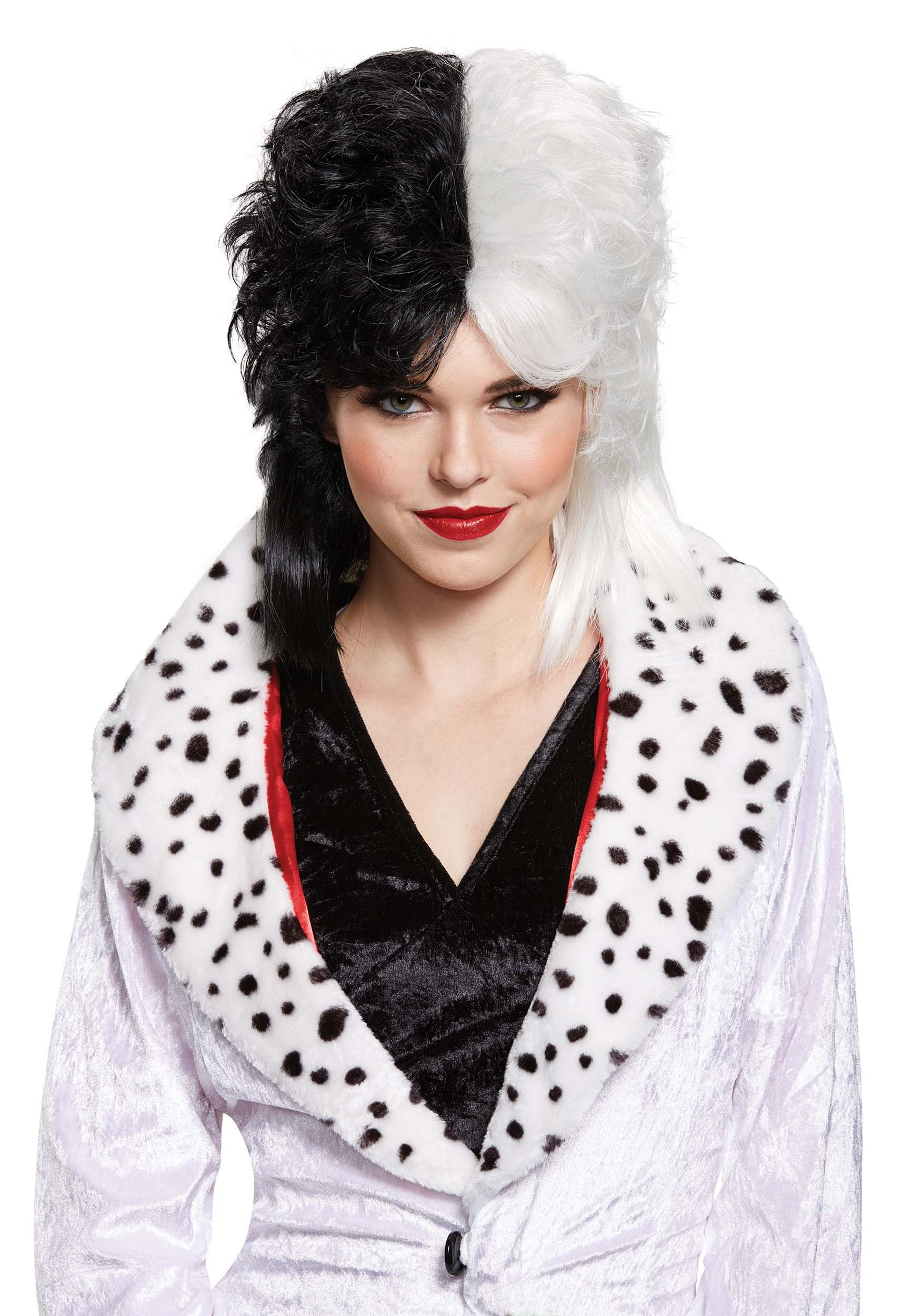 cruella de vil deluxe wig for women. Black Bedroom Furniture Sets. Home Design Ideas