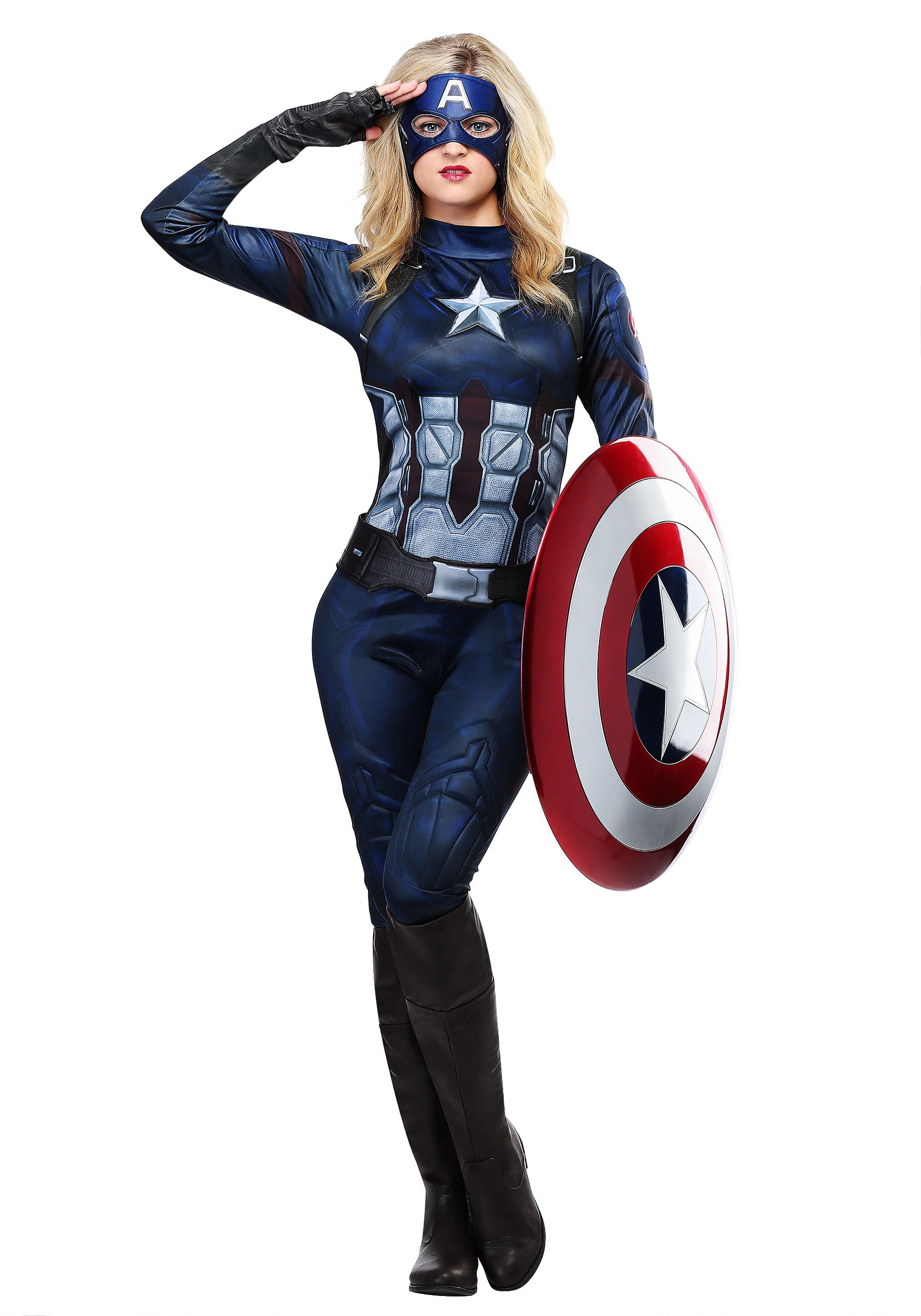Captain America Womenu0027s Costume  sc 1 st  Halloween Costumes UK & Female Superhero Costumes - Womenu0027s Halloween Superhero Costumes