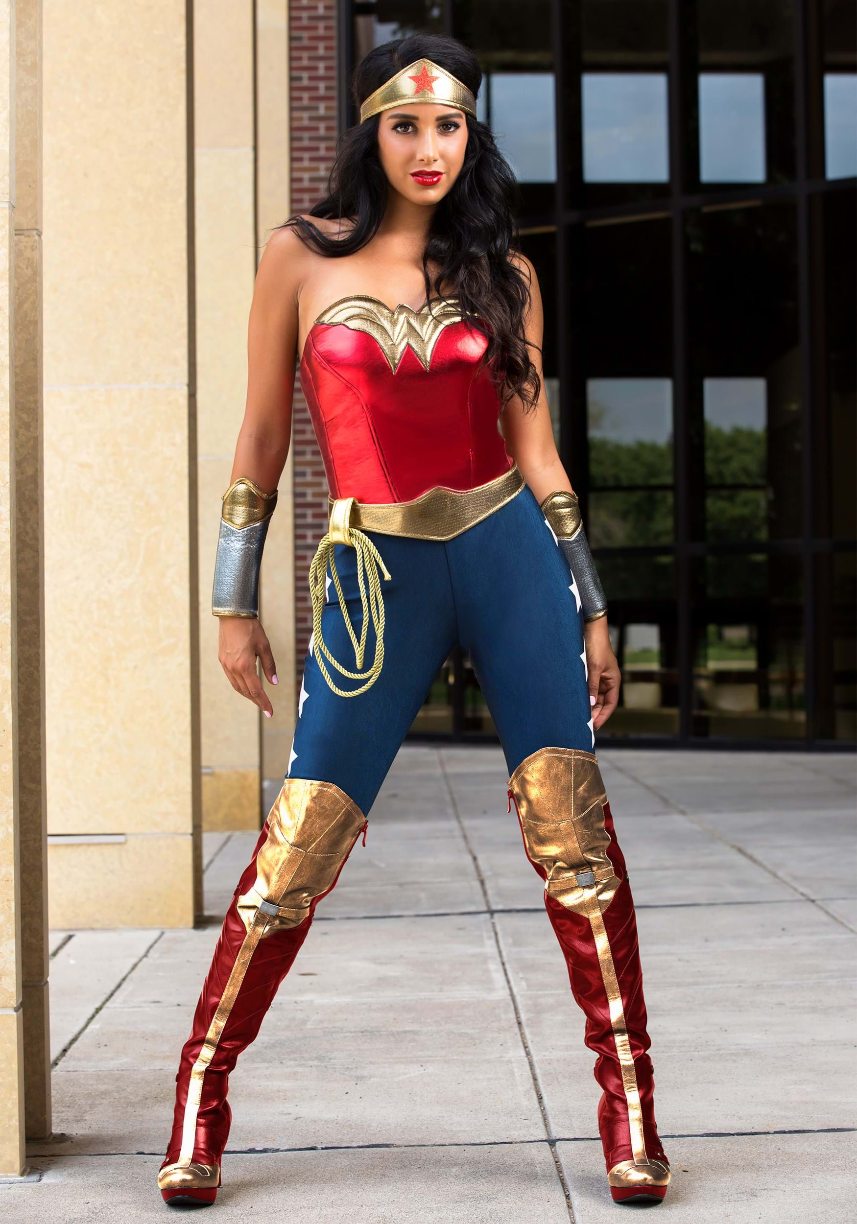 Adult DC Wonder Woman Costume  sc 1 st  Halloween Costumes UK & TV / Movie Costumes