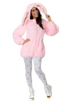 Women's Plus Size Fuzzy Pink Bunny Costume
