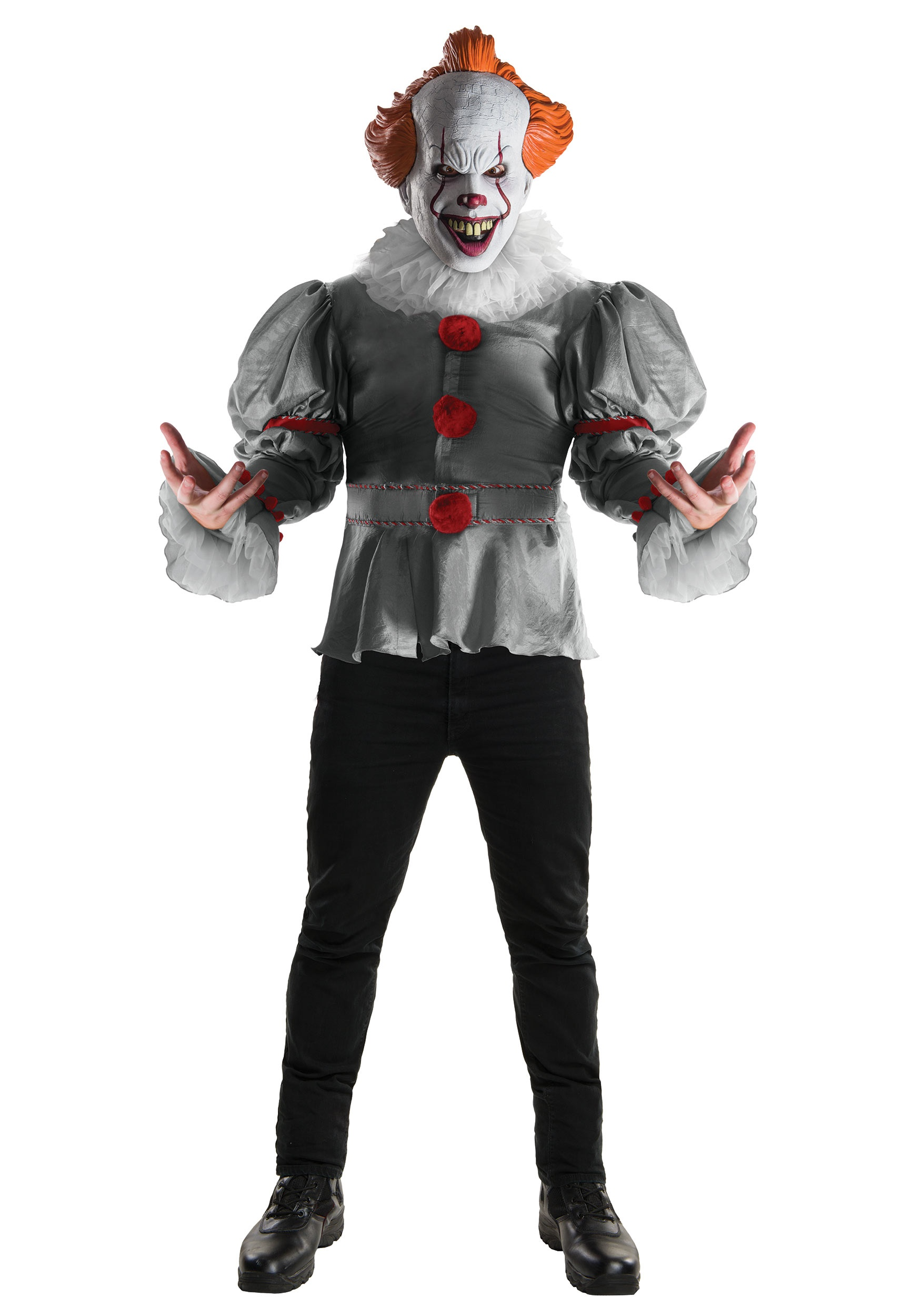 Adult Deluxe IT Movie Costume  sc 1 st  Halloween Costumes UK & Evil Clown Costumes