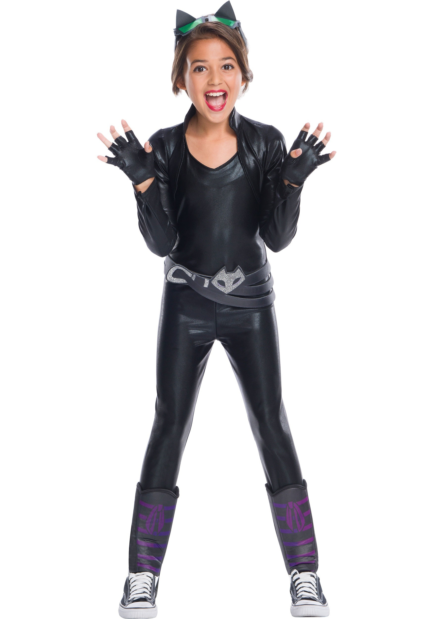 DC Superhero Girls Catwoman Costume  sc 1 st  Halloween Costumes UK : superhero girl costumes  - Germanpascual.Com