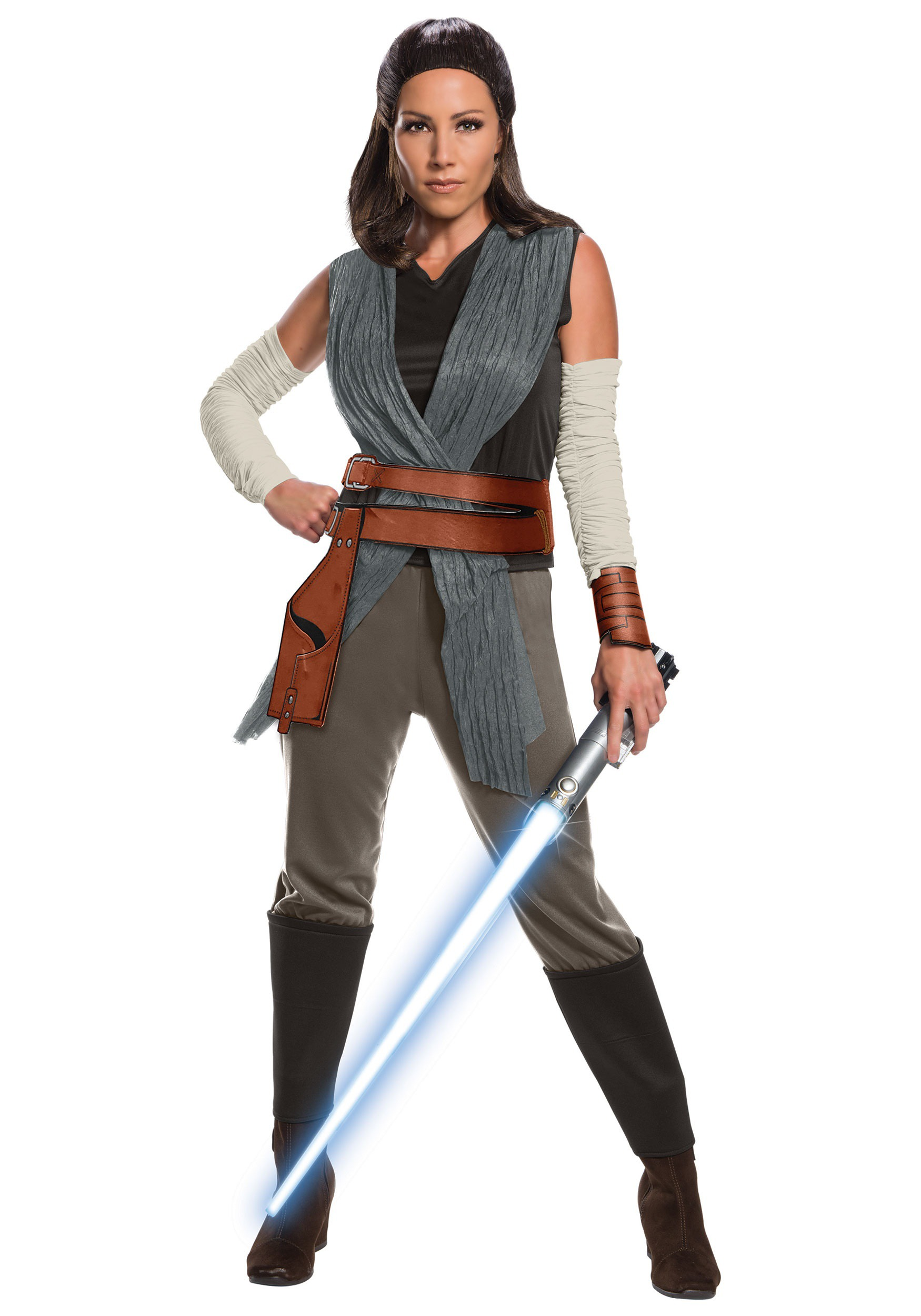 Star Wars The Last Jedi Deluxe Rey Adult Costume  sc 1 st  Halloween Costumes UK : princess leia han solo costumes  - Germanpascual.Com