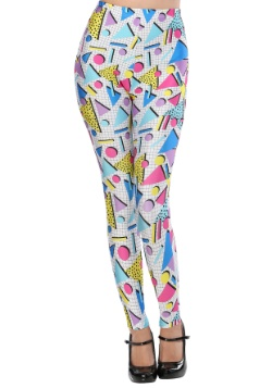 Adult 80's Party Girl Leggings