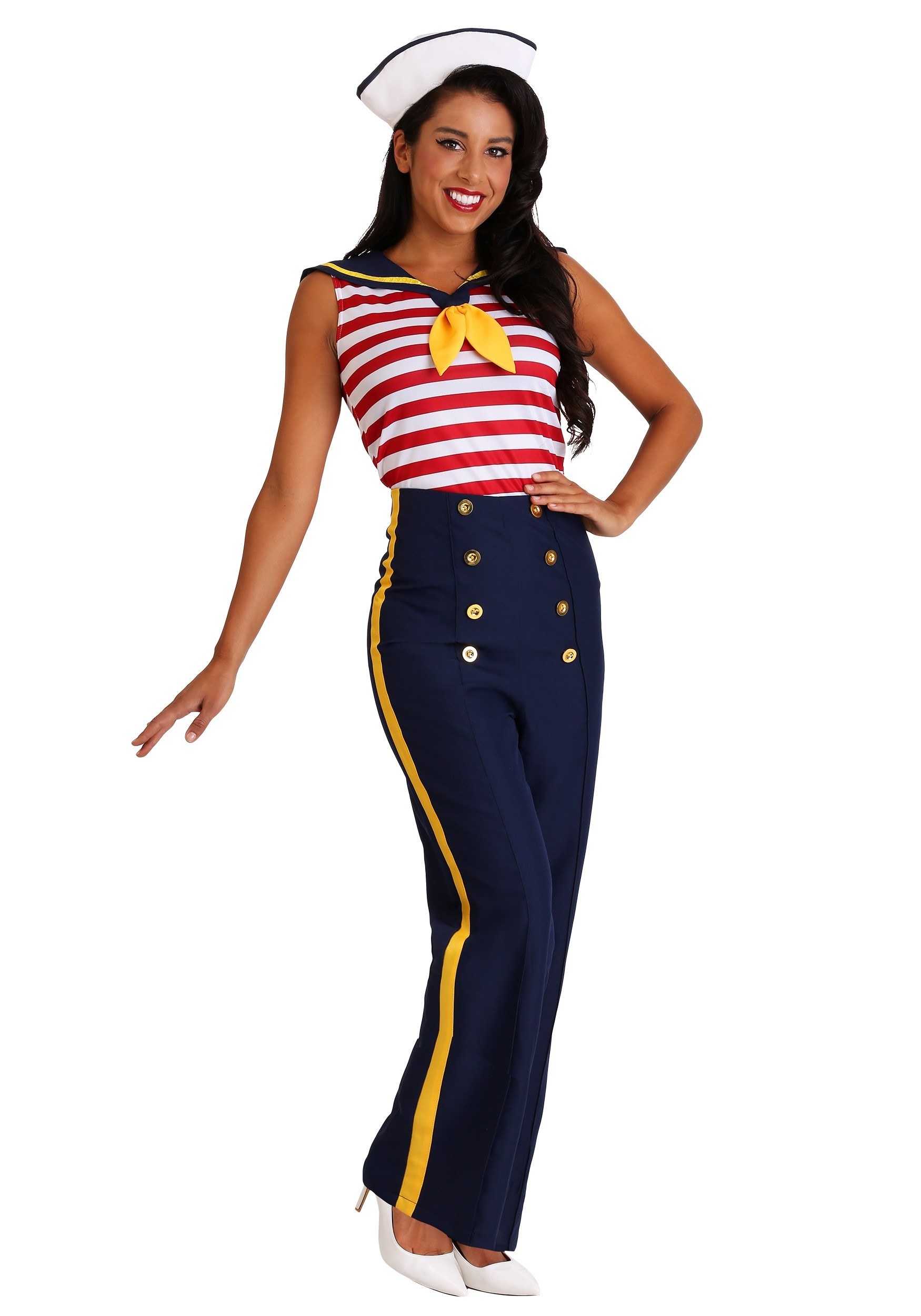Women\'s Plus Size Perfect Pin Up Sailor Costume
