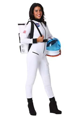 Women's White Astronaut Costume