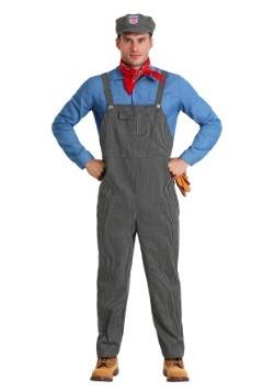 Adult Plus Size Train Engineer Costume