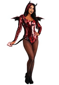 Women's Sequined Devil Costume