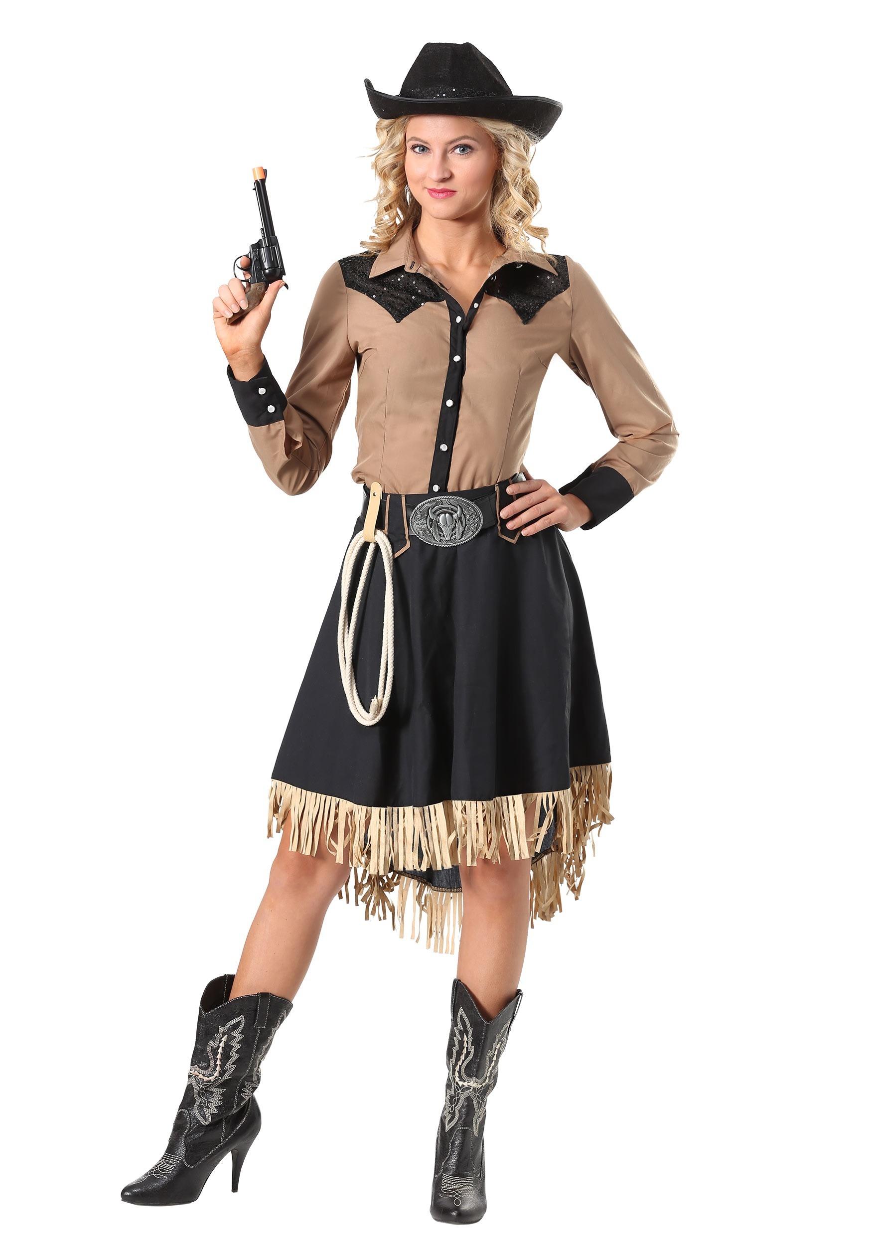 Lasson Cowgirl Plus Size Costume For Women