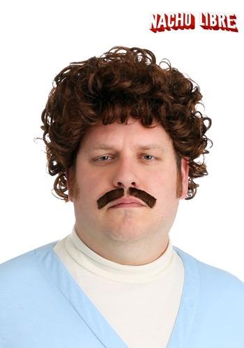 Adult Nacho Libre Wig & Mustache