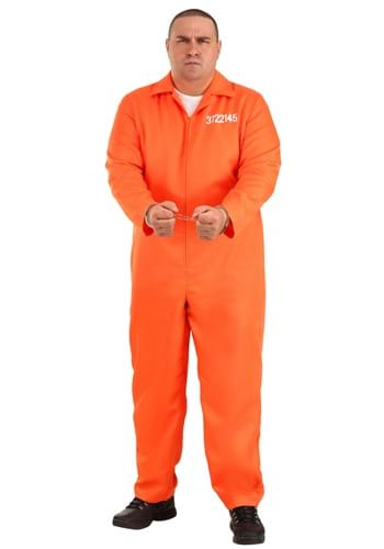 Plus Men's Prison Jumpsuit