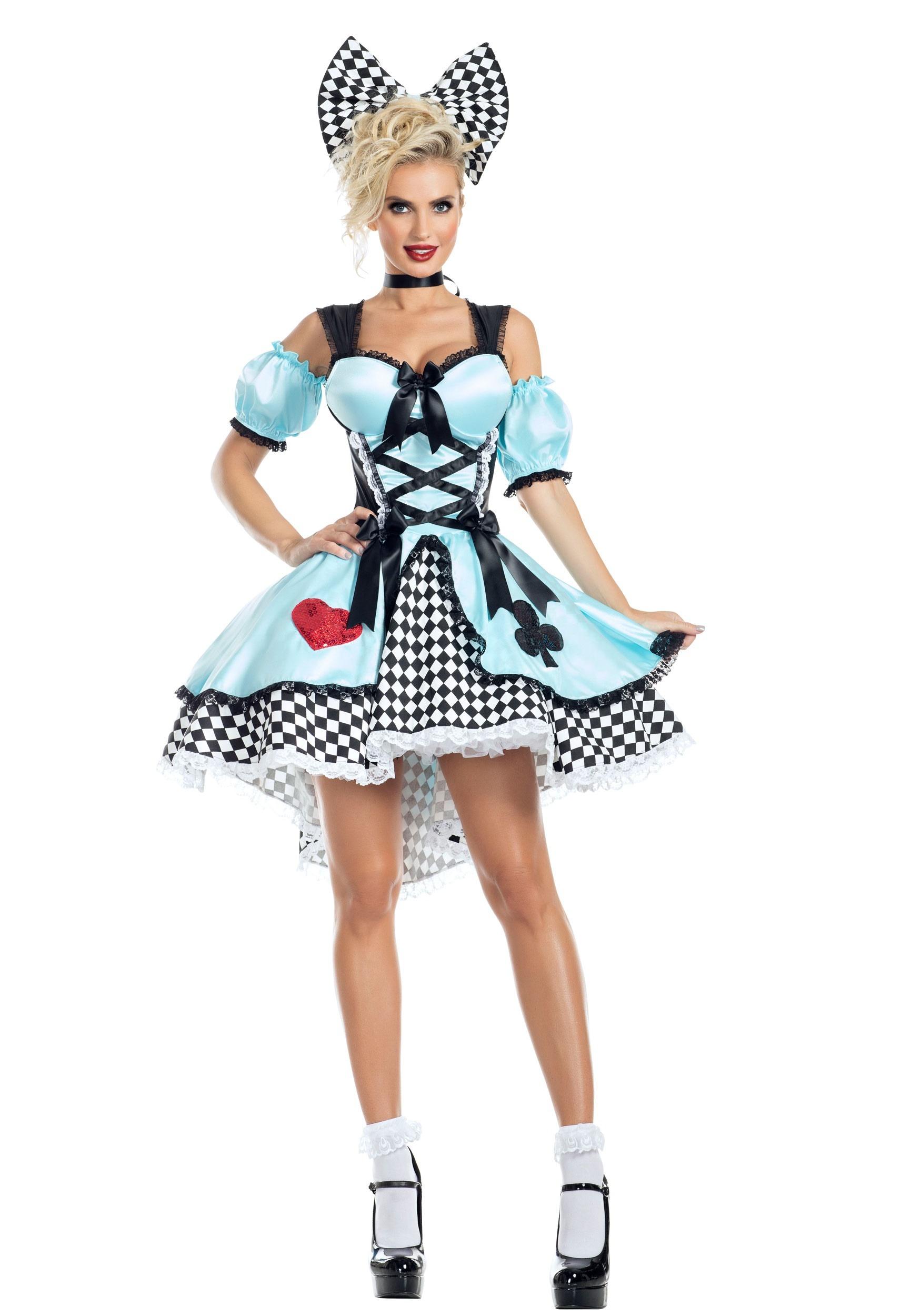 Flirtatious Alice Fancy Dress Costume for Women