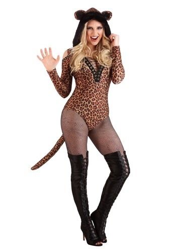 Women's Leopard Leotard Costume
