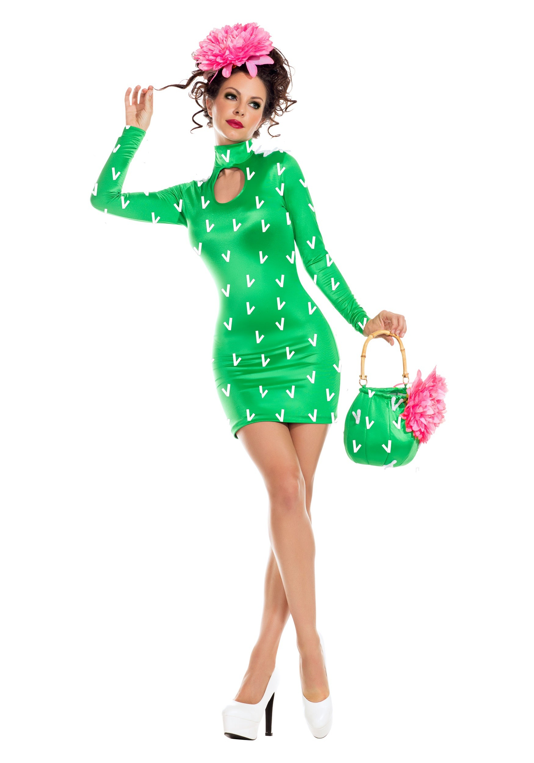 INOpets.com Anything for Pets Parents & Their Pets Sexy Cactus Fancy Dress Costume for Women