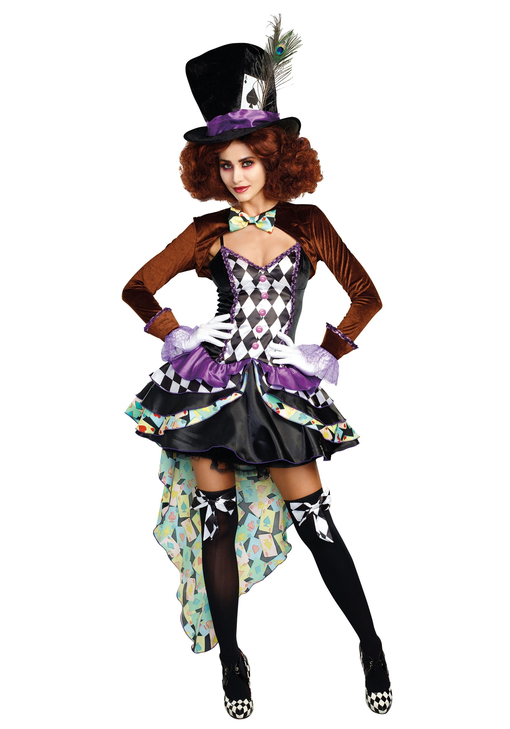 Raving Mad Hatter Womenu0027s Costume  sc 1 st  Halloween Costumes UK & Raving Mad Hatter Costume for Women