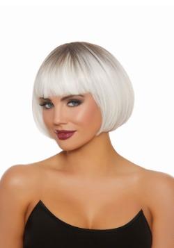 Women's Dip Dye Short Bob White Wig