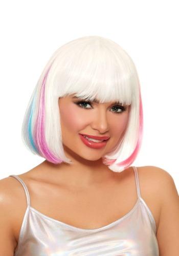 Women's Hidden Rainbow Mid-Length Wig