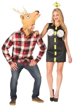Deer in Headlights Couples Costume Set