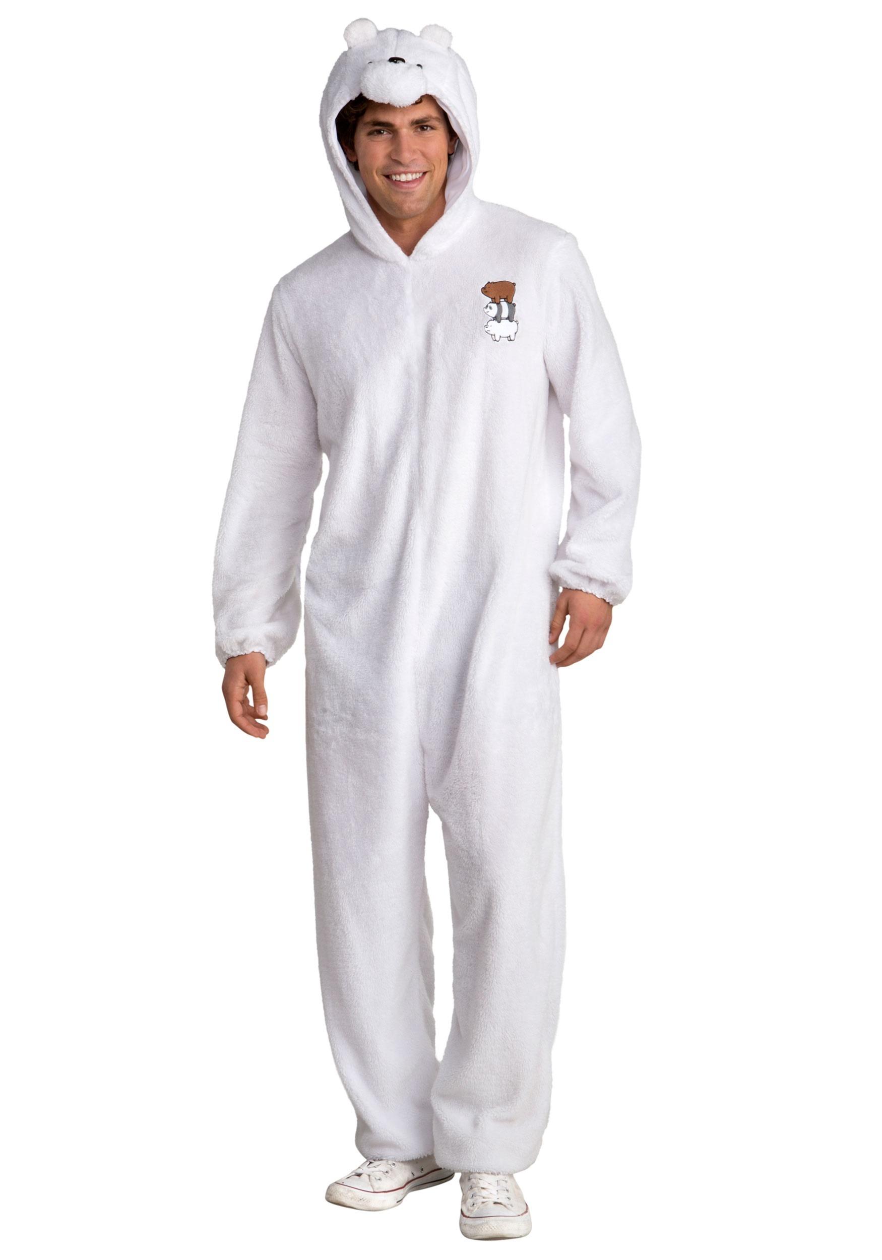 We Bare Bears Ice Bear Fancy Dress Costume for Men