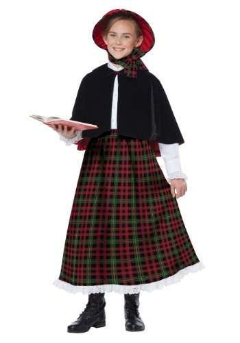 Girls Holiday Caroler Costume