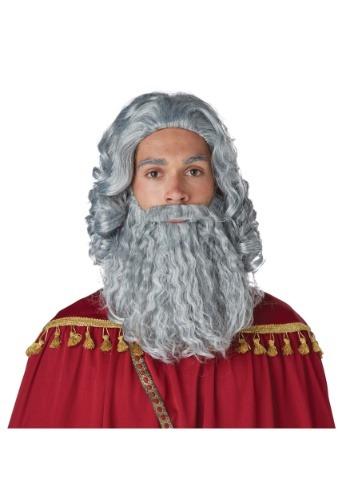 Wise Man Gray Wig and Beard