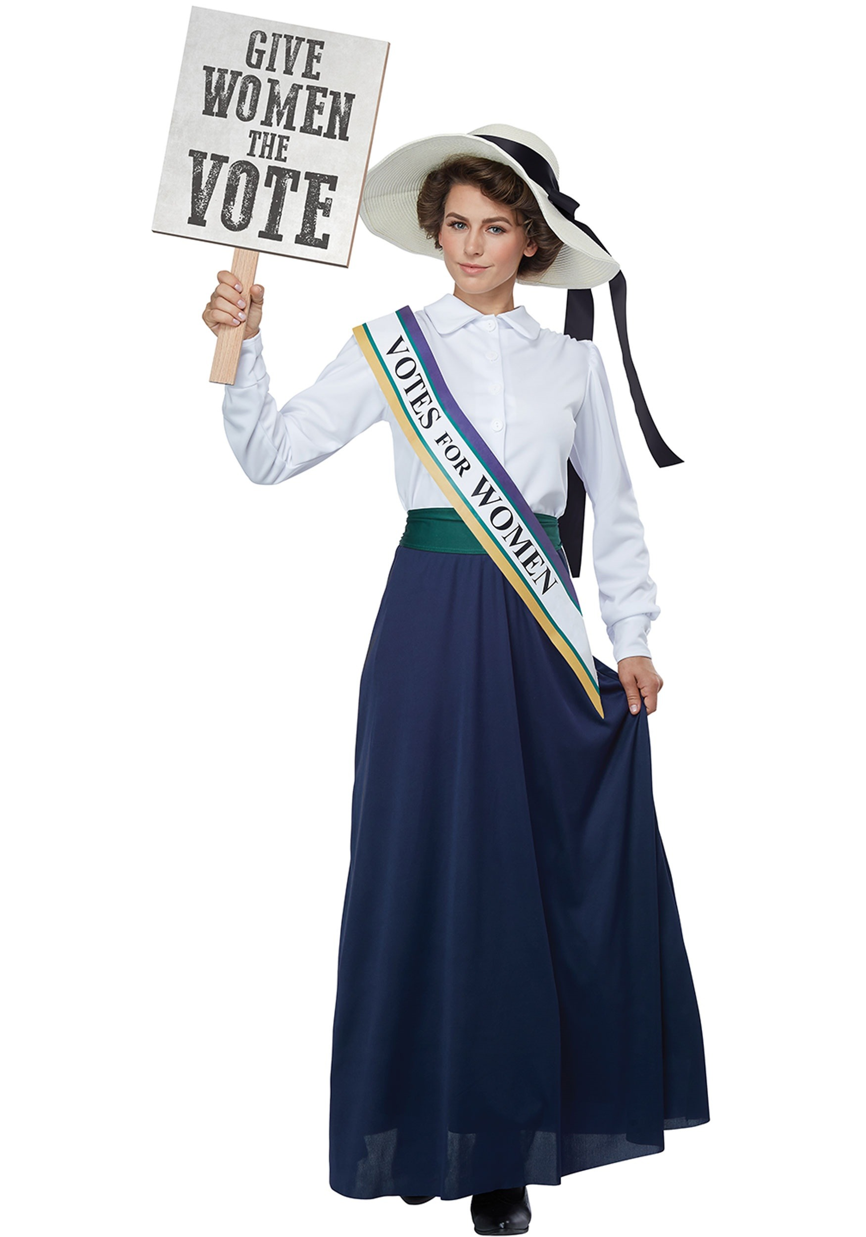 INOpets.com Anything for Pets Parents & Their Pets American Suffragette Women's Fancy Dress Costume
