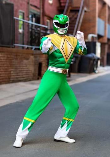 Power Rangers Men's Green Ranger Costume