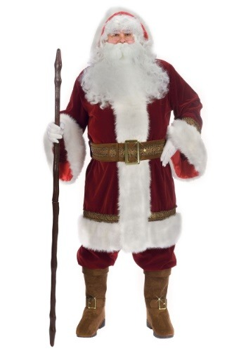 Plus Size Old Time Santa Costume