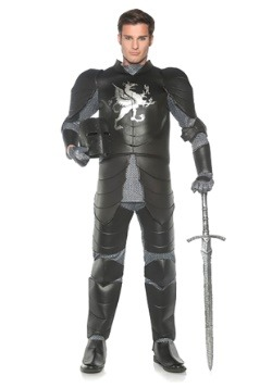 Mens Plus Black Knight Costume