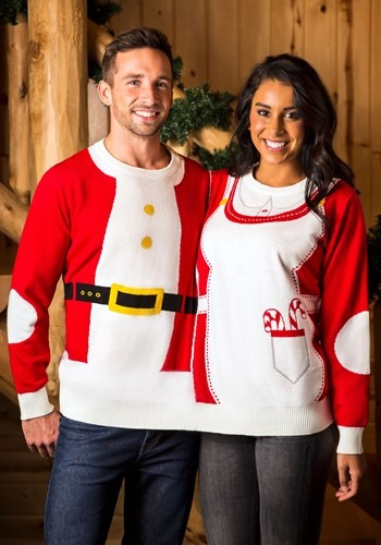 Two Person Mr. & Mrs. Claus Ugly Christmas Sweater Update