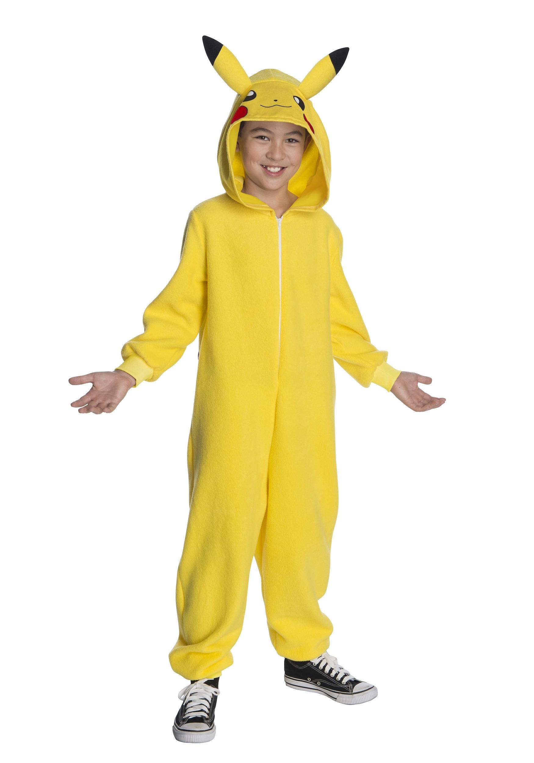 Pikachu Girls Child Pokemon Video Game Halloween Costume Dress