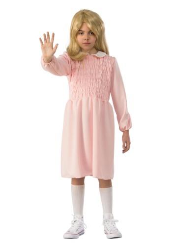 Child Stranger Things Eleven Long Sleeve Dress Costume