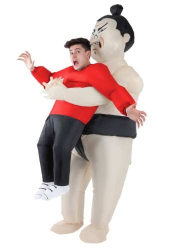 Adult Inflatable Sumo Wrestler Pick Me Up Costume