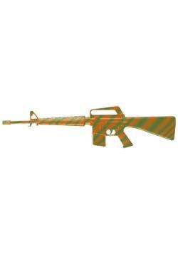 Orange/Green M-16 Machine Gun