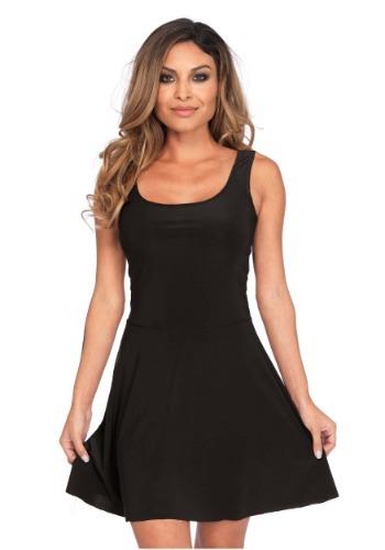Women's Basic Black Skater Dress