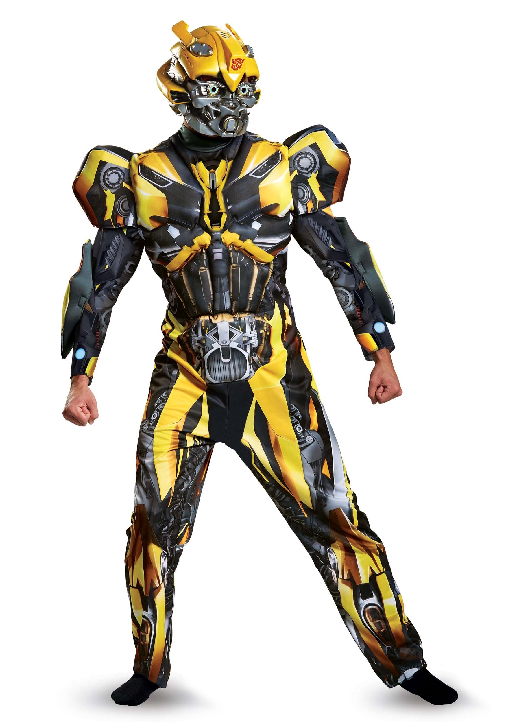 adult transformers 5 deluxe bumblebee costume. Black Bedroom Furniture Sets. Home Design Ideas