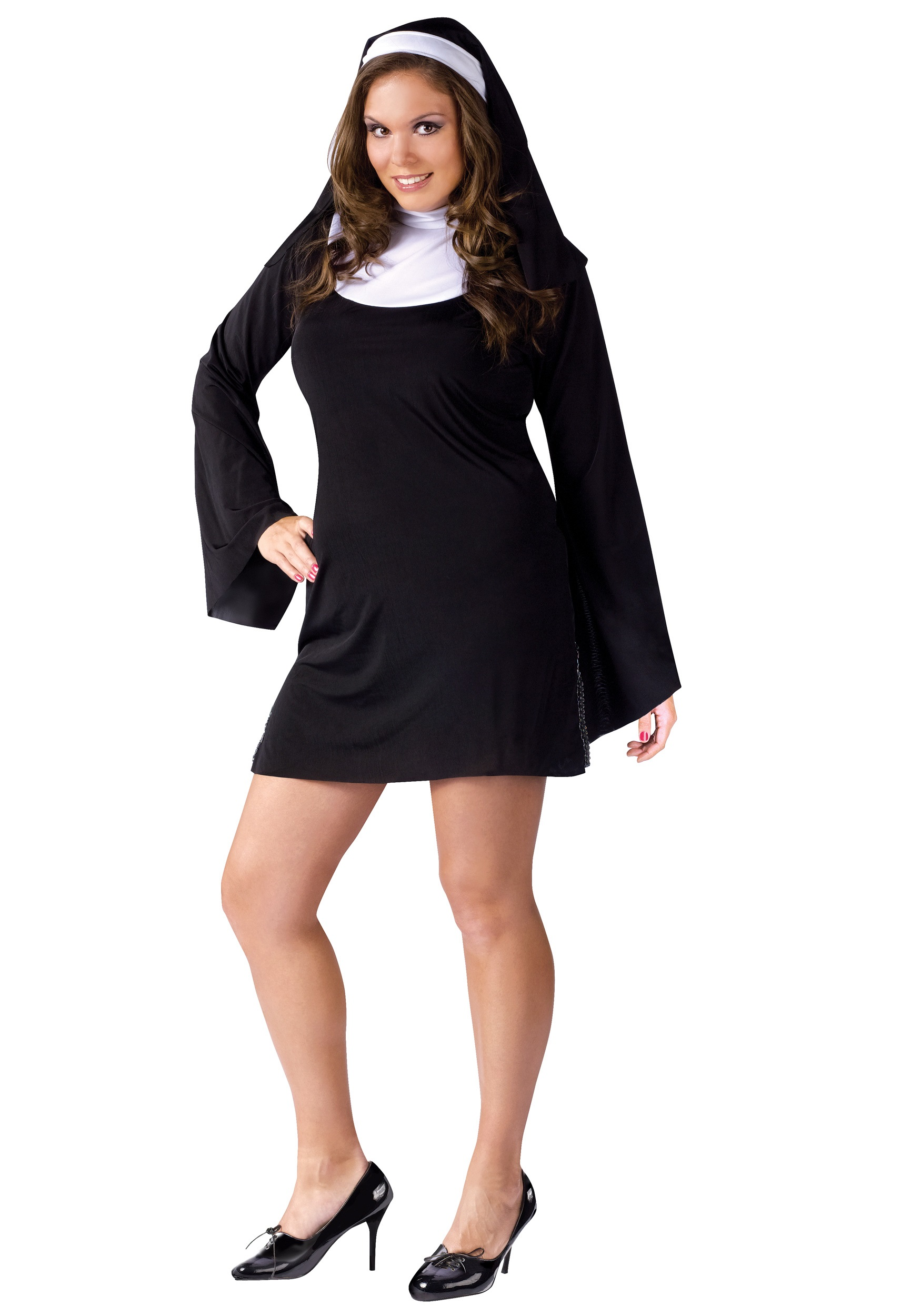 sc 1 st  Halloween Costumes UK & Plus Size Naughty Nun Costume