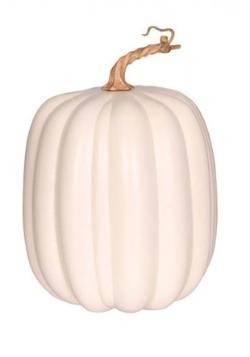 """10"""" White Tall Pumpkin"""