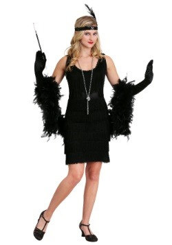 Black Fringe 1920's Flapper Costume