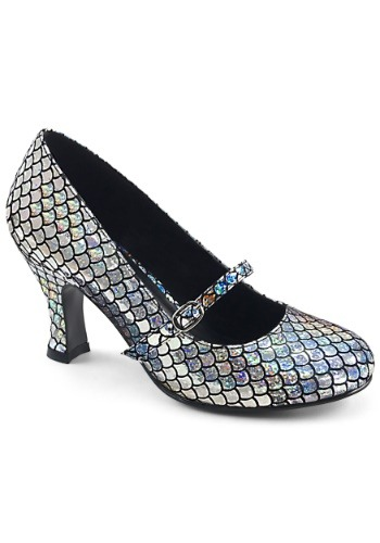 Women's Silver Mermaid Heels