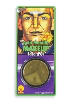 Metallic Gold Face Makeup
