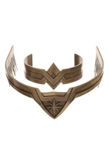 Wonder Woman Metal Tiara and Cuff Jewelry Cosplay Set
