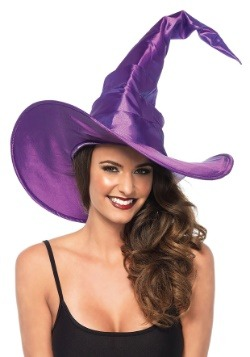 Large Purple Ruched Witch Hat