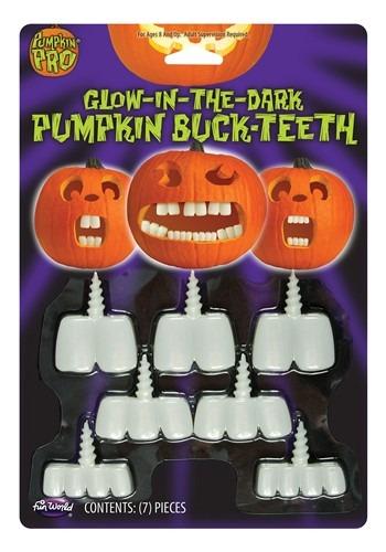 Glow in the Dark Pumpkin Buck Teeth