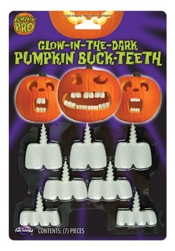 Glow in the Dark Pumpkin Buck Teeth