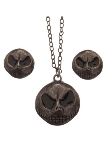 Jack Skellington Necklace and Earring Set