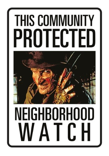 Nightmare on Elm Street Freddy Neighborhood Watch