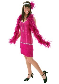 Fuchsia Flapper Dress Costume